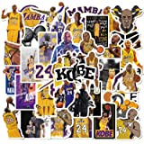 Basketball Star Stickers Kobe Black Mamba Sticker Small Decal 50 Pack for Laptop Cars Water Bottles Stickers