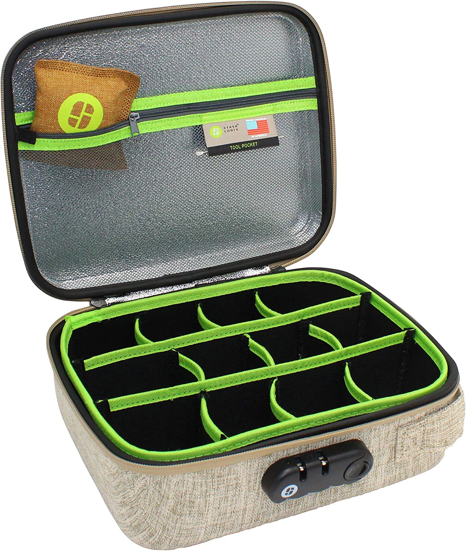 Sac de verrouillage Stash avec contr/ôle des odeurs Moyen bronzer Stashlogix Silverton