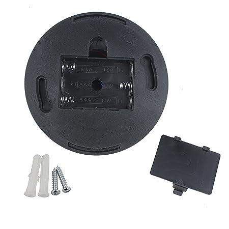 Amazon.com: eDealMax simulada falsa seguridad de la vigilancia de la cámara CCTV domo al aire Libre de Interior Con luz roja LED de advertencia Con pilas ...