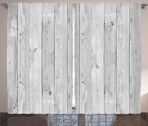 Ambesonne Grey Curtain