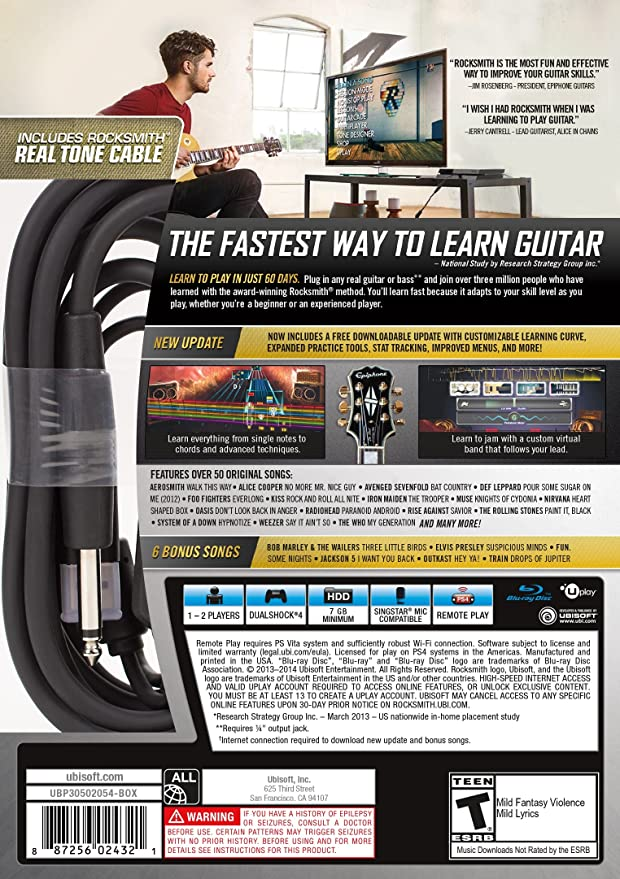 Buy Rocksmith 2014 Ed Remstr Ps4 Online At Low Prices In India