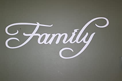 Amazon.com: Say It All On The Wall Family Word Sign White Paint ...