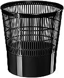 CEP 1002370011–Poubelle avec grille, 16l, noir