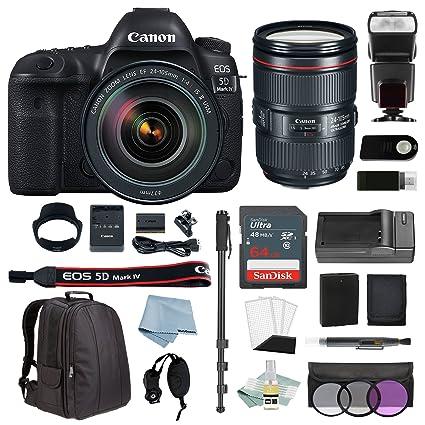 Amazon.com : Canon EOS 5D Mark IV Full Frame Digital SLR Camera Kit ...
