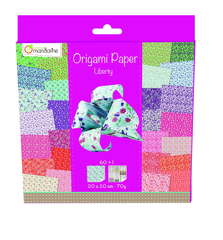 Avenue Mandarine 52509O - Carta per origami motivo: Liberty Clairefontaine
