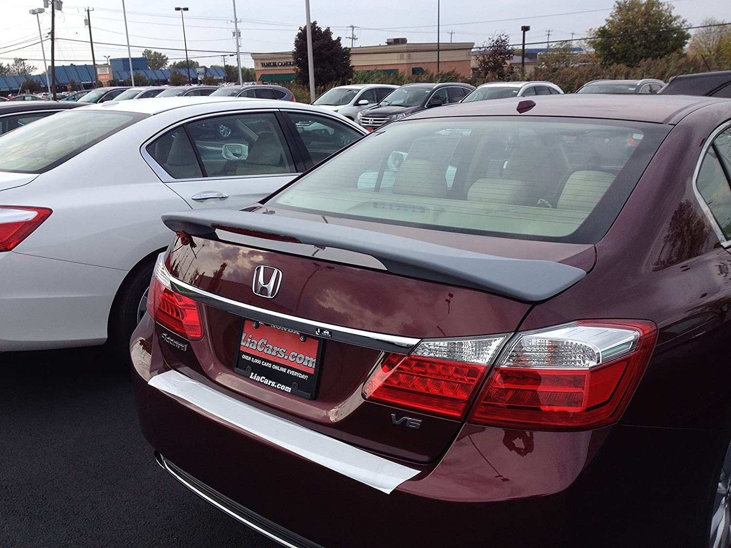 Jsp 368066 Honda Accord 4dr Rear Spoiler Painted 2013 1992 Civic 2016 Factory Style With Led New Hematite Gray Metallic Automotive