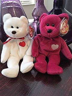 Amazon.com  TY Beanie Baby - VALENTINO the BEAR (PVC Pellets Tush ... 95882125d8e0