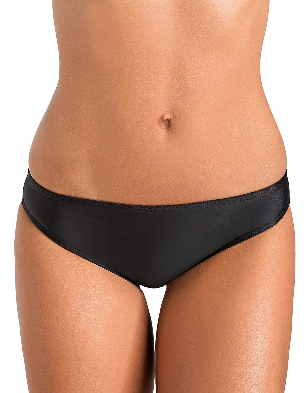 Gwinner Höschen Badehose Bikini Hose Slip Kurz Damen - Elastisch und Bequem - Schutz vor UV und Chlor - Ideal für Strand, Meer, Schwimmbad - Schwarz