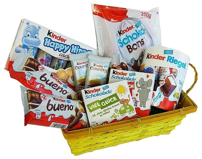 Cesta Regalo para Pascua, San Valentin, Navidad y Aniversario con Ferrero Kinder Especialidades (