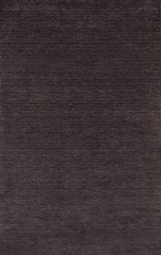 Momeni Rugs Gramercy Collection, 100 Wool Hand Loomed Contemporary Area Rug, 5 x 8 , Charcoal