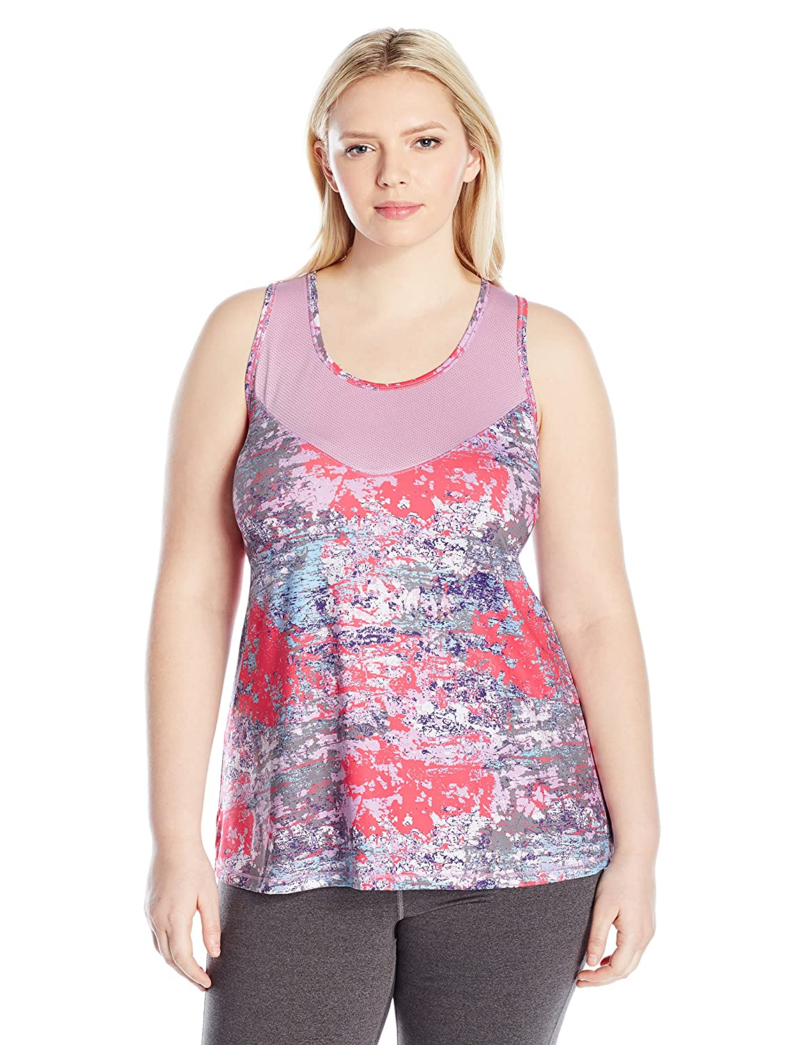 Fit for Me by Fruit of the Loom Womens Plus-Size Plus Size Breathable Textured Tank PS12390P