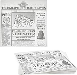 Newspaper Deli Paper Sheets, Greaseproof Food Wrapping Paper (12 In, 250 Pack)