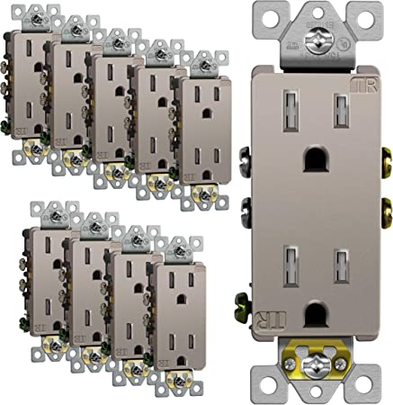 15-Amp Pass /& Seymour TM873NICC10 Grounded 3-Way Decorator Switch Nickel Color