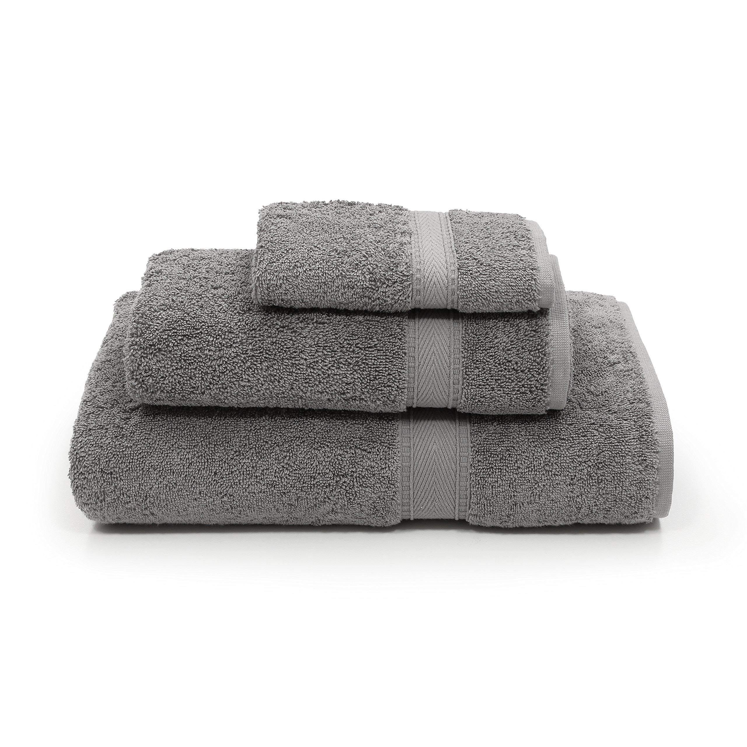 Linum Home Textiles SN96-3C Bath Towel, Dark Grey