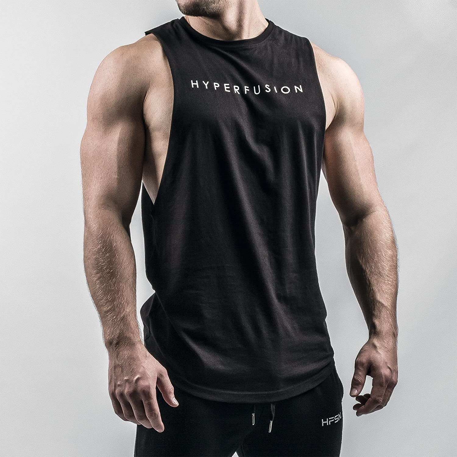 Hyperfusion Phantom Cut Off Tank Muscle Shirt Tank Top Gym Fitness