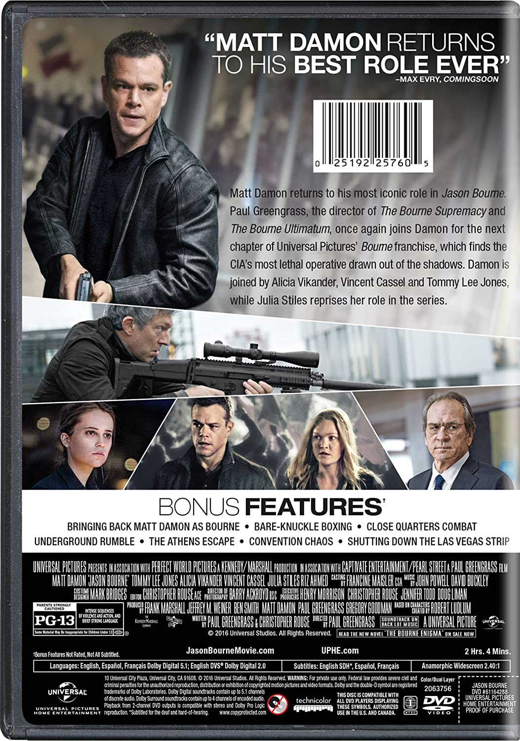 Amazon com: Jason Bourne: Matt Damon, Tommy Lee Jones