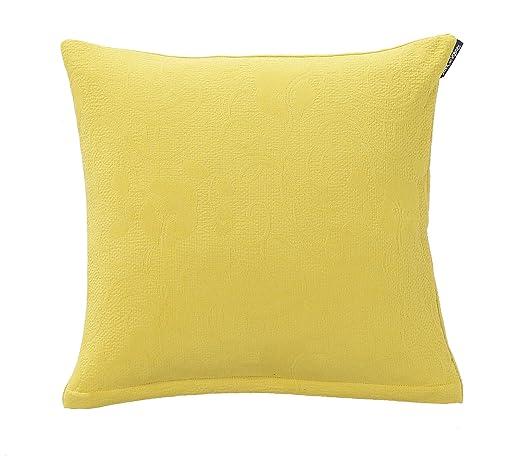 Blanc des Vosges Kerala Funda/cojín algodón limón, algodón ...
