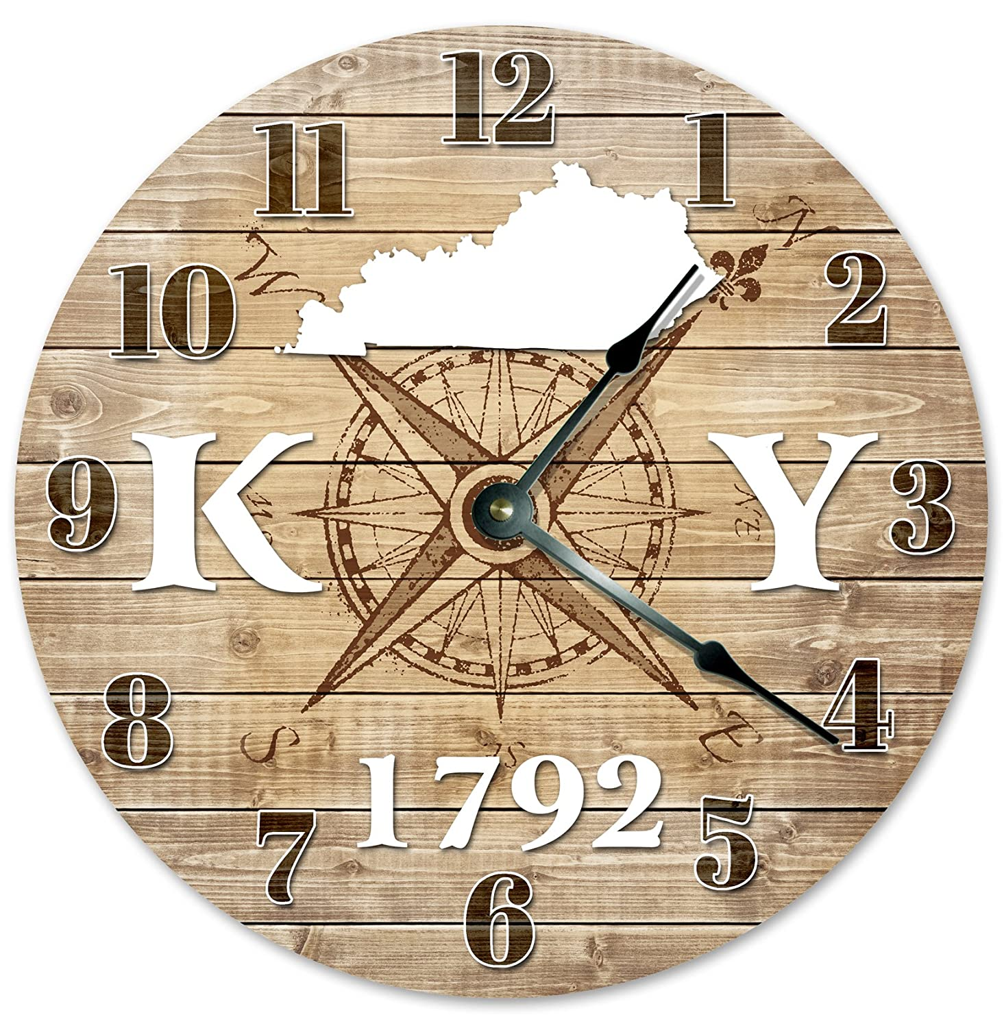 KENTUCKY CLOCK Established in 1792 Decorative Round Wall Clock Home Decor Large 10.5