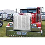 2003-2007 379X Short Nose 379 378 Belmor WF-84084-1 White Winterfront Truck Grille Cover for 1986-2007 Peterbilt 357 375 377