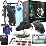 Bike accessories & Cycling equipment set : Bicycle Phone Handlebar Mount ( iPhone, Samsung, Etc.), Water Backpack, Bicycles Seats Cushion Cover, Under Seat Pouch, Bikes Repair Tool Kit, & Mini Pump