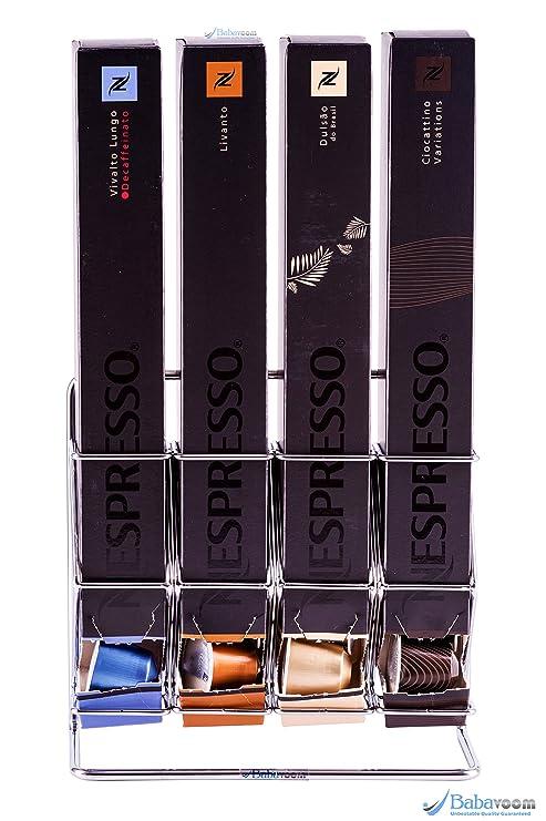 Dispensador de cápsulas nespresso, 40 cápsulas |Garantía Babavoom