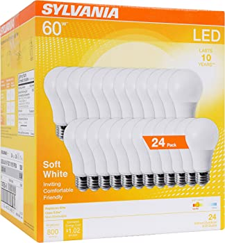 24-Pack Sylvania 8.5W (60W Equivalent) LED Light Bulb (Soft White 2700K)