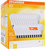 SYLVANIA 60W Equivalent, LED Light Bulb, A19 Lamp, Efficient 8.5W, Soft White 2700K, 24 Pack