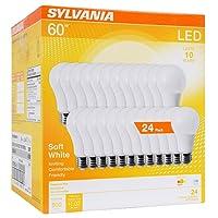 Sylvania (equivalente a 60W, luz LED foco, A19lámpara, eficiente 8,5W, 2700K, Blanco Suave 24Pack