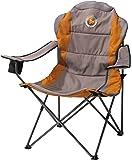 Grand Canyon  308012 Comfort - chaise de camping pliante, acier, grise/orange