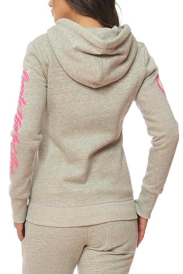 M. Conte Felpa da donna con cappuccio Rachel, taglie SML XL, colori bianco blu navy grigio melange nero rosa nero XL
