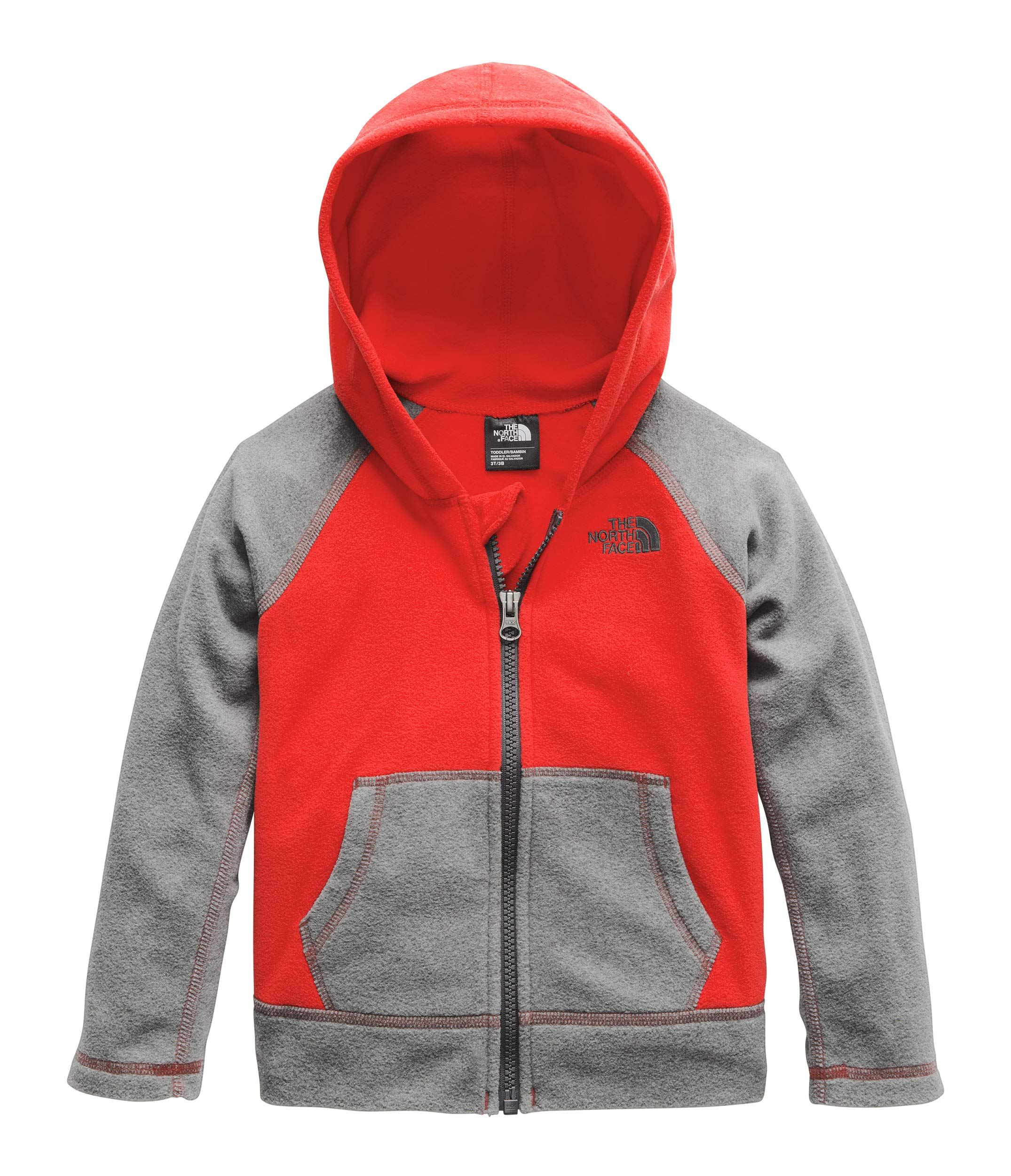 The North Face Kids Baby Boy's Glacier Full Zip Hoodie (Toddler) Fiery Red 5T