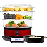 Andrew James 9L Three Tier LCD Digital Food Steamer with Rice Dish