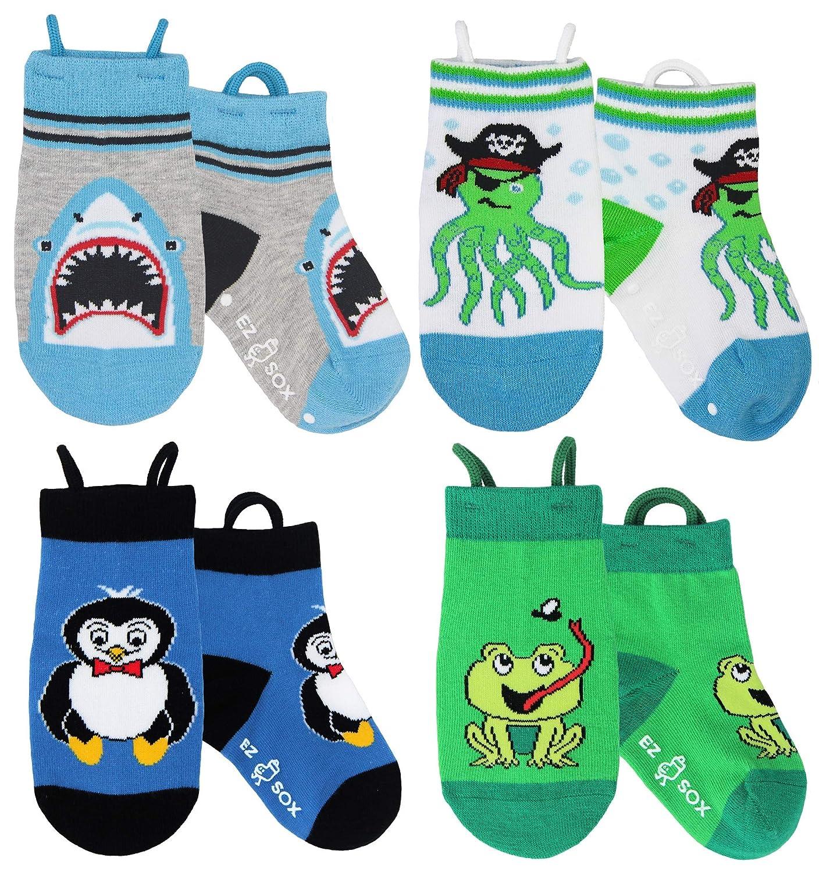 nahtlose Zehen rutschfeste Pull-up-Schleifen Ez Sox Jungen und M/ädchen Kleinkind Socken