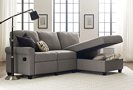 couch leather bedroom small fabric pull sofa sectionals storage with sleeper out gus flannelette gray tufts canada contemporary sectional foreman and style chaise