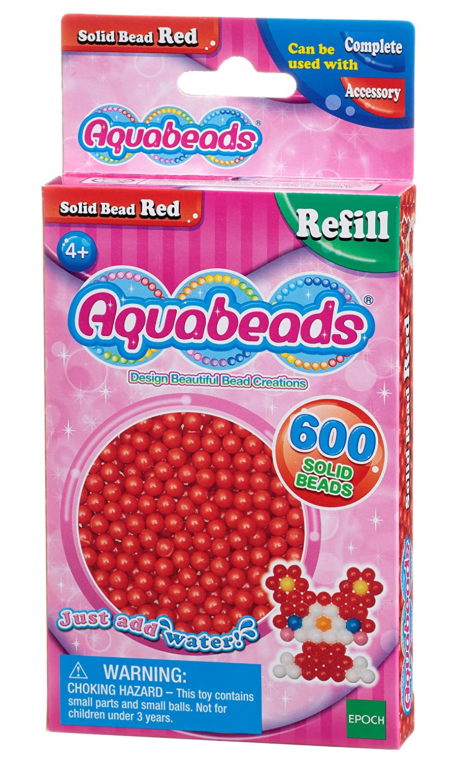 Aquabeads Solid beads color rojo Epoch para imaginar