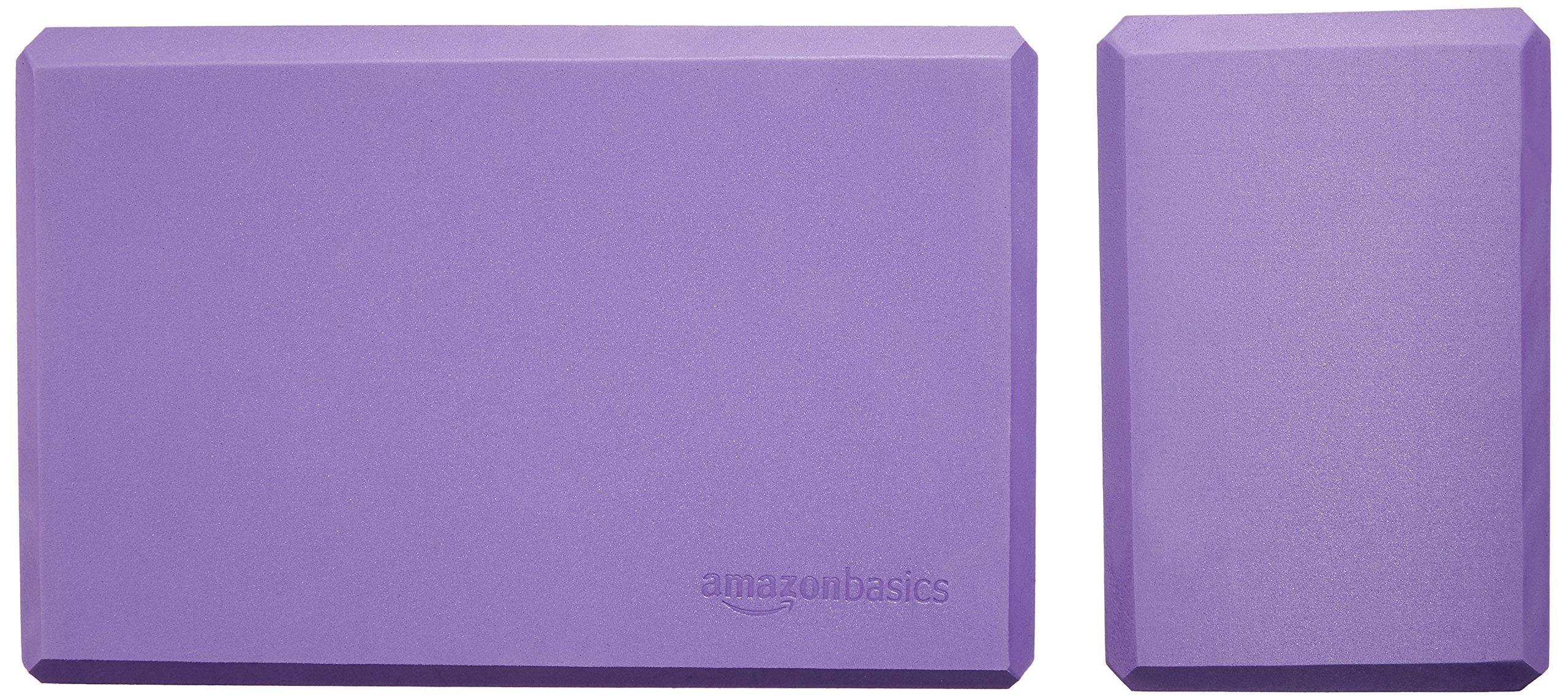 AmazonBasics Foam Yoga Blocks - 4 x 9 x 6 Inches, Set of 2, Purple by AmazonBasics (Image #6)