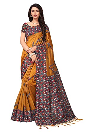 56ea581078a Women Latest Design Saree New Collection Fancy Party Blouse Daily Wear  Ethnic  Amazon.in  Clothing   Accessories