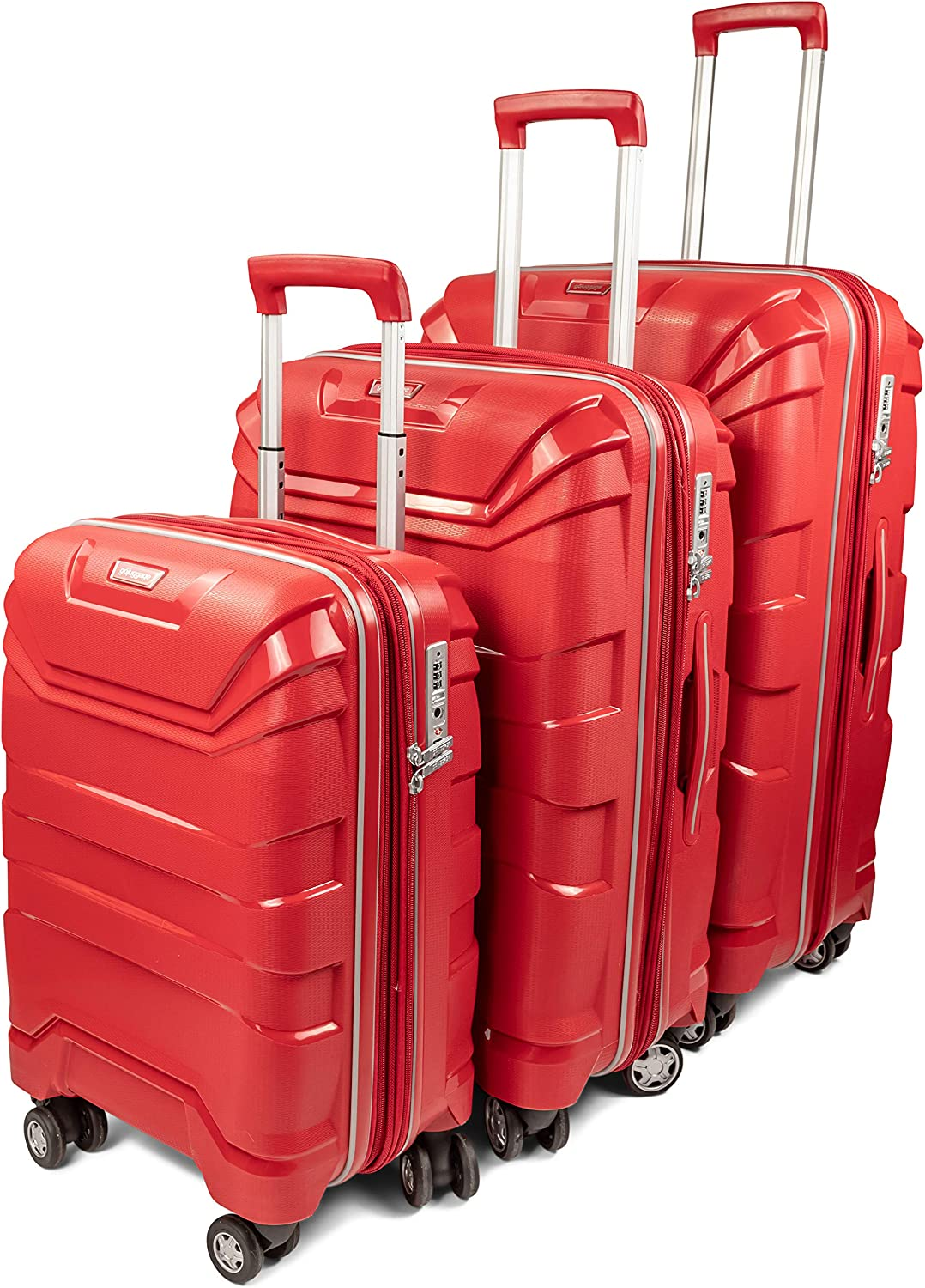 GoLuggage Aspire Hard Suitcase Set Higest Quality Large Carry On Hard Travel Case With Wheels Best Deal For The Best Quality Black
