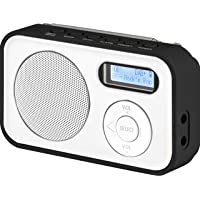 Imperial DABMAN 12 tragbares Digitalradio (DAB+/UKW, LCD Display, Akku, 3X AAA Batteriebetrieb) weiß