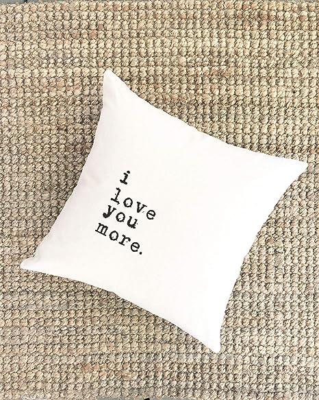 Amazon.com: Almohada de algodón para parejas con texto en ...