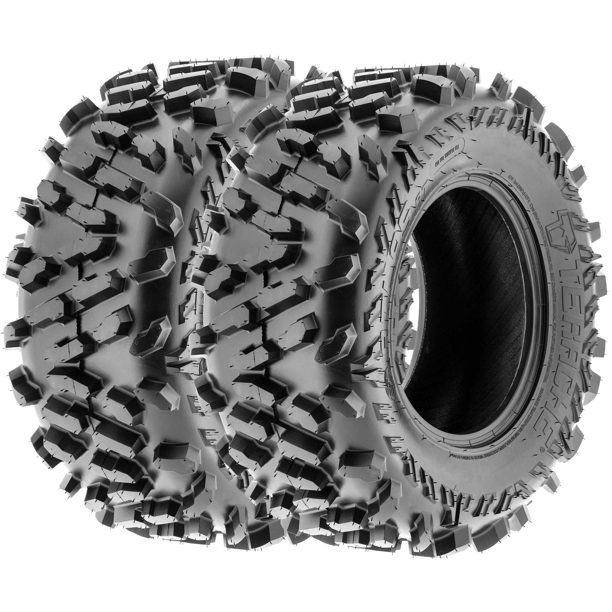 TERACHE Atlas ATV UTV A/T Tires 27x11-14 27x11x14 Tubeless Race Premium 6 Ply, [Set of 2]