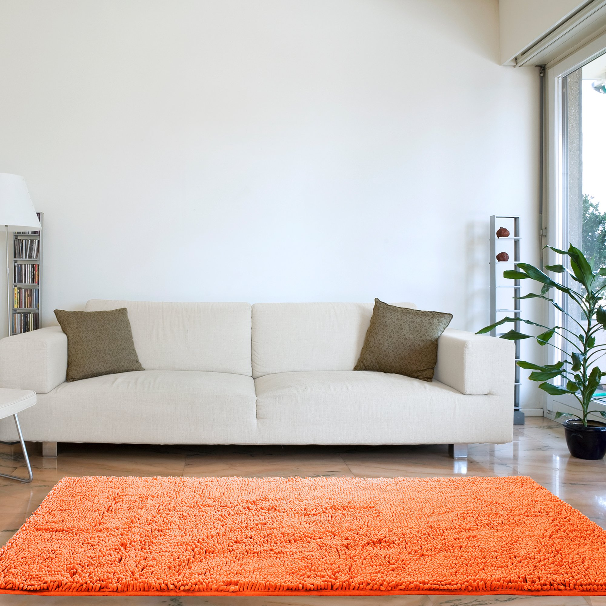 Lavish Home 67-13-PE Shag Bath Mat, 30''x 60''