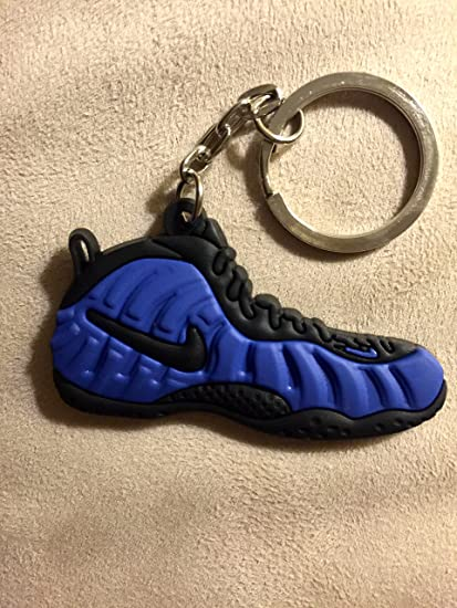 8650d22aec5 Amazon.com   Nike Air Foamposite Metallic Blue Black Sneakers Shoes  Keychain Keyring   Everything Else
