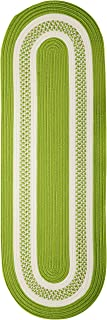 product image for Crescent Oval Area Rug, 2 by 12-Feet, Bright Green