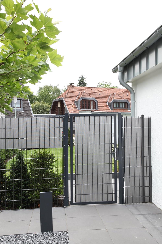 Amazon De Sichtschutz Delta Lichtdurchlassig Fur Doppelstabmatten 26 Lfdm In Anthrazit Absolute Marktneuheit Made In Germany