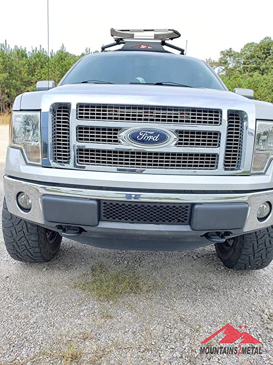 Mountains2Metal Stainless Steel Bumper Grille Insert Compatible with 2009-2014 Ford F-150