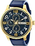 Versus by Versace Men's SBA050014 Globe Stainless Steel Watch with Blue Band