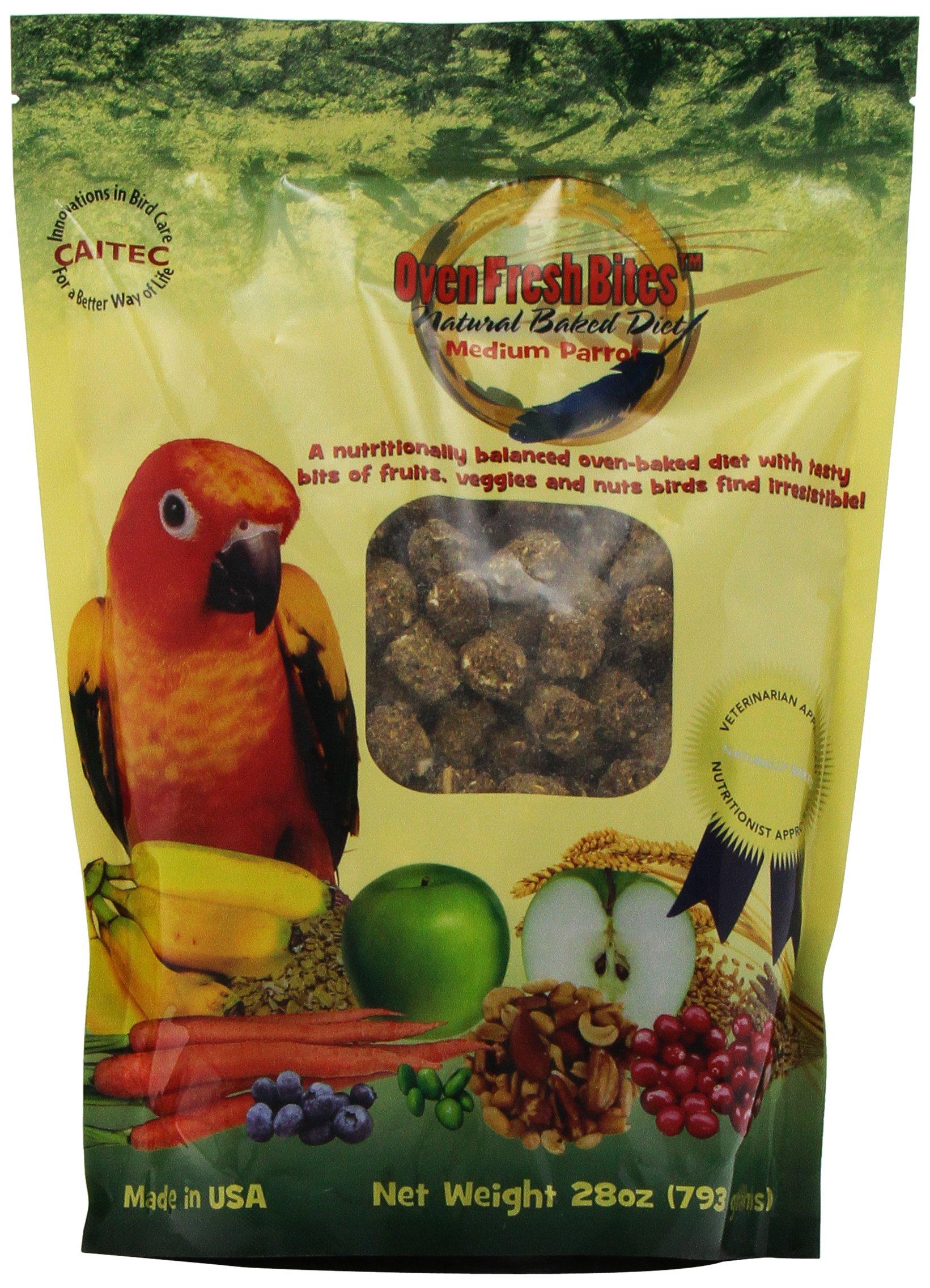Oven Fresh Bites Natural Baked Avian Diet, Nutritional, Whole Grain, Medium Parrot, 28 Oz. Bag by Oven Fresh Bites