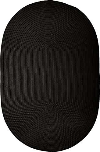 Boca Raton Polypropylene Braided Rug, 2-Feet by 3-Feet, Black