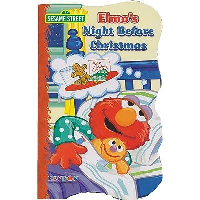 Elmo's Night Before Christmas - Shaped Board Book : Bathtub Books : Baby